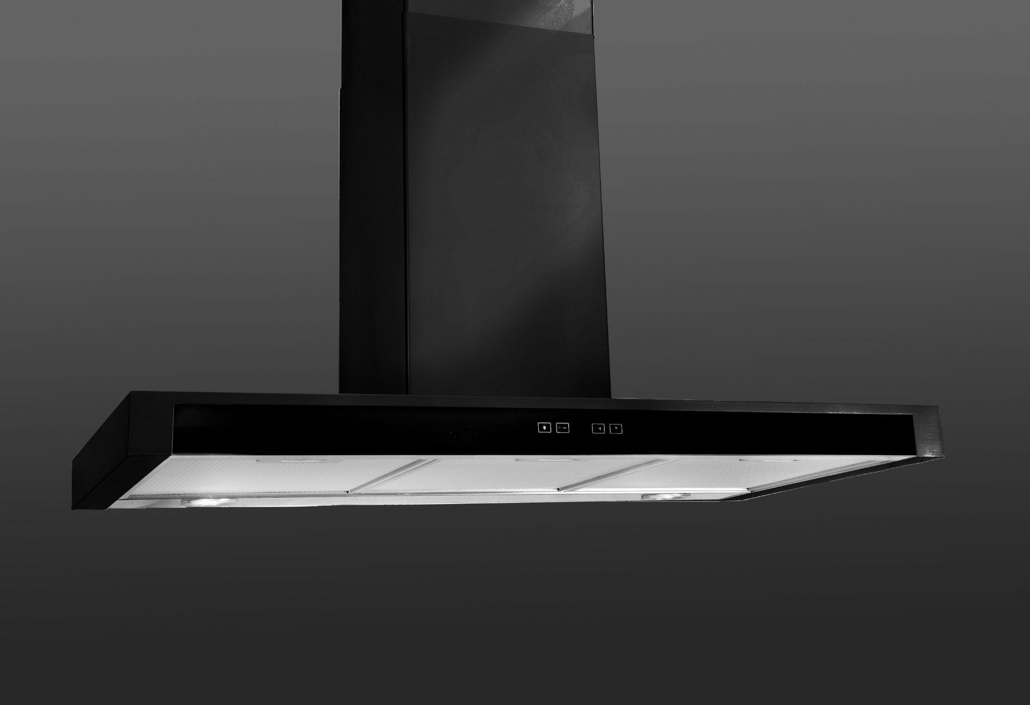 Lux Air LA70FSLBLK 70cm Cooker Hood In Black 980m3hr